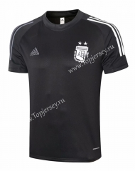 2020-2021 Argentina Black Short-Sleeved Thailand Soccer Tracksuit Top-815