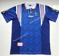 Retro Version 1996 France Home Blue Thailand Soccer Jersey AAA-912