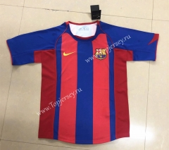 Retro Version 2004-2005 Barcelona Home Red&Blue Thailand Soccer Jersey AAA