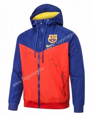 2020-2021 Barcelona Blue&Orange Trench Coats With Hat-815