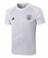 2020-2021 Germany White Short-Sleeved Thailand Soccer Tracksuit Top-815
