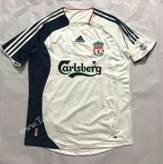 Retro Version 2006-2007 Liverpool Away White Thailand Soccer Jersey AAA-510