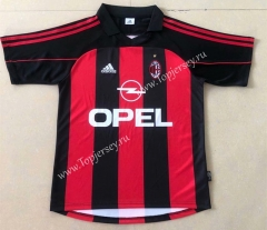 Retro Version 2000-2002 AC Milan Home Red&Black Thailand Soccer Jersey AAA