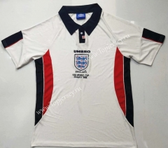 Retro Version 1998 England Home White Thailand Soccer Jersey AAA-912