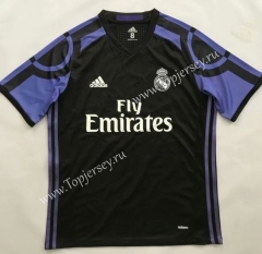 Retro Version 2015-2016 Real Madrid 2nd Away Black Thailand Soccer Jersey AAA-510