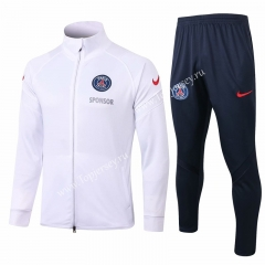2020-2021 Paris SG White Thailand Soccer Jacket Unifrom-815