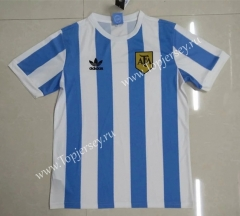 Retro Version 1978 Argentina Home Blue and White Thailand Soccer Jersey AAA-912