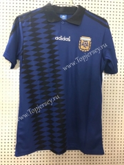 Retro Version 1994 Argentina Away Royal Blue Thailand Soccer Jersey AAA