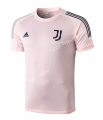 2020-2021 Juventus Pink Short-sleeved Thailand Soccer Tracksuit Top-815