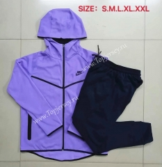 2020-2021 Purple Thailand Soccer Jacket Uniform With Hat-815