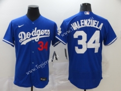 Los Angeles Dodgers Blue #34 Baseball Jersey