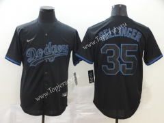 Los Angeles Dodgers Royal Blue #35 Baseball Jersey