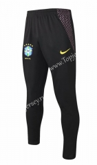 2020-2021 Brazil Black Thailand Soccer Jacket Long Pants-815