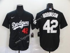 Los Angeles Dodgers Black #42 Baseball Jersey