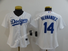 Los Angeles Dodgers White #14 Baseball Jersey
