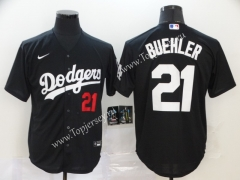 Los Angeles Dodgers Black #21 Baseball Jersey