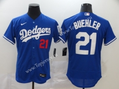 Los Angeles Dodgers Blue #21 Baseball Jersey