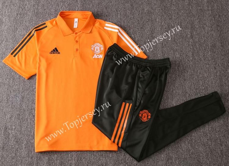 2020 2021 Manchester United Orange Thailand Polo Uniform 815 Manchester United