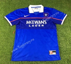 Retro Version 1997-1999 Rangers Home Blue Thailand Soccer Jersey AAA-503