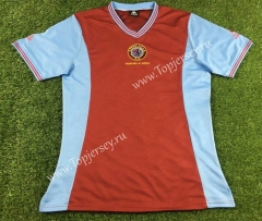 Retro Version 1881-1882 Aston Villa Red Thailand Soccer Jersey AAA-503