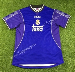Retro Version 1997-1998 Real Madrid Away Blue Thailand Soccer Jersey AAA-503