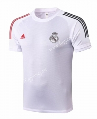 2020-2021 Real Madrid White Short-sleeved Soccer Tracksuit Top-815