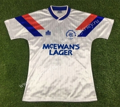 Retro Version 1990-1992 Rangers Away White Thailand Soccer Jersey AAA-503