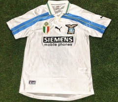 Retro Version 2000-2001 Lazio Home White Thailand Soccer Jersey AAA-503