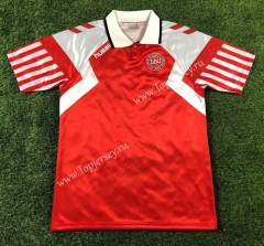 Retro Version 1992 European Cup Denmark Red Thailand Soccer Jersey AAA-503