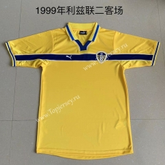 Retro Version 1999 Leeds United 2nd Away Yellow Thailand Soccer Jersey AAA-AY