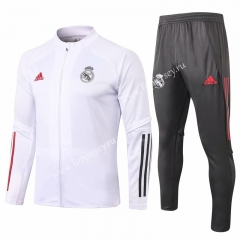 2020-2021 Real Madrid White Thailand Soccer Jacket Uniform-815