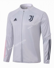 2020-2021 Juventus Light Gray Thailand Soccer Jacket -815