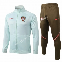 2020-2021 Portugal Light Green Thailand Soccer Jacket Uniform-815