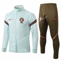 2020-2021 Portugal Light Green (Sleeve Ribbon)Thailand Soccer Jacket Uniform-815