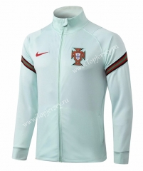 2020-2021 Portugal Light Green (Sleeve Ribbon)Thailand Soccer Jacket-815