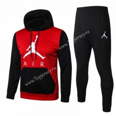 2020-2021 Jordan Paris SG Red(Black Sleeve)Thailand Soccer Tracksuit With Hat-815