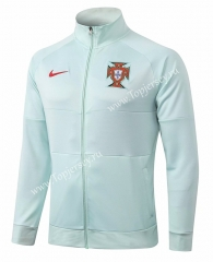 2020-2021 Portugal Light Green Thailand Soccer Jacket-815