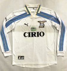 Retro Version 2000-2001 Lazio Home White LS Thailand Soccer Jersey AAA-905