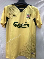 Retro Version 2005 Liverpool Away Yellow Thailand Soccer Jersey AAA-905