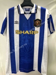 Retro Version 1994-1996 Manchester United Blue&White Thailand Soccer Jersey AAA-905