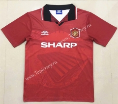 Retro Version 1994-1996 Manchester United Home Red Thailand Soccer Jersey AAA-908