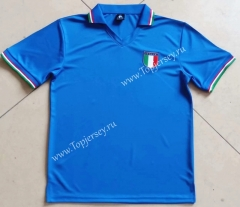 Retro Version 1982 Italy Home Blue Thailand Soccer Jersey AAA-912