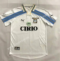 Retro Version 2000-2001 Lazio Away White Thailand Soccer Jersey AAA-905