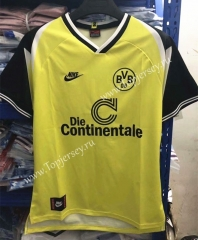 Retro Version 1995-1996 Borussia Dortmund Home Yellow&Black Thailand Soccer Jersey AAA-905