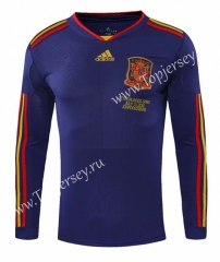 Retro Version 2010 World Cup Spain Blue Thailand Soccer Jersey AAA-SL