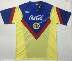 Retro Version 1988 Club América Home Yellow Thailand Soccer Jersey AAA-912