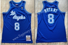 Mitchell Ness Retro Version Los Angeles Lakers Blue #8 NBA Jersey