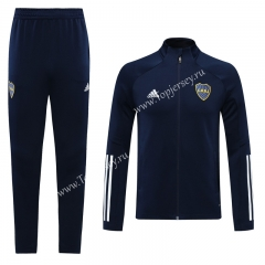 2020-2021 Boca Juniors Royal Blue Thailand Training Soccer Jacket Uniform-LH