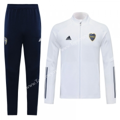 2020-2021 Boca Juniors White Thailand Training Soccer Jacket Uniform-LH