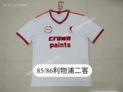 Retro Version 85-86 Liverpool 2nd Away White Thailand Soccer Jersey AAA